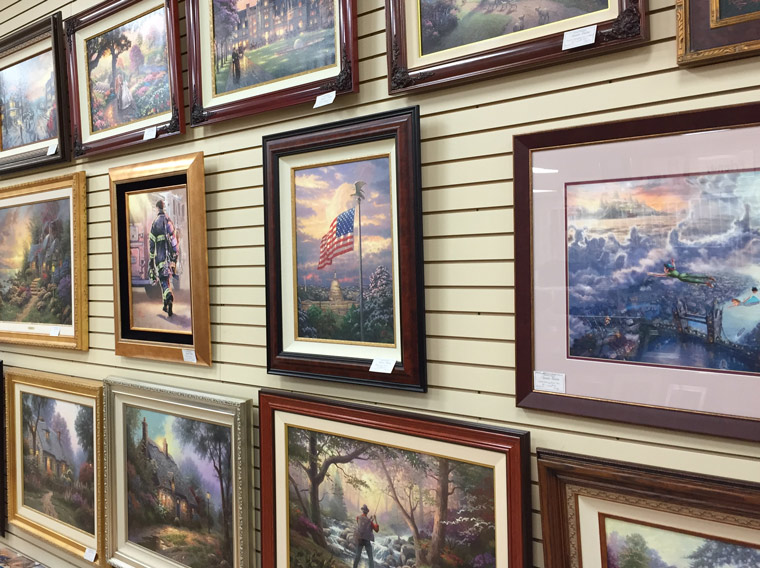 thomas kinkade framed paintings